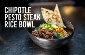 Chipotle Pesto Steak Rice Bowl